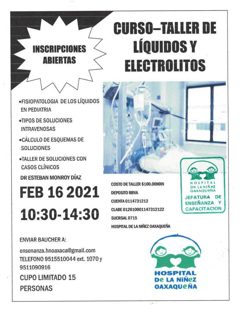 Curso-Taller Líquidos y Electrólitos